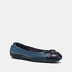 PEARL FOLDABLE BALLET - MIDNIGHT NAVY/DARK DENIM - COACH FG1840