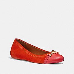 LEILA BALLET - ORANGE RED - COACH FG1843