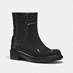 SIGNATURE RAIN BOOTIE - BLACK - COACH FG1877