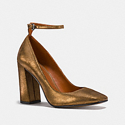ANKLE STRAP PUMP - GOLD - COACH FG1942