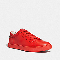 C126 LOW TOP SNEAKER - VINTAGE RED - COACH FG1947