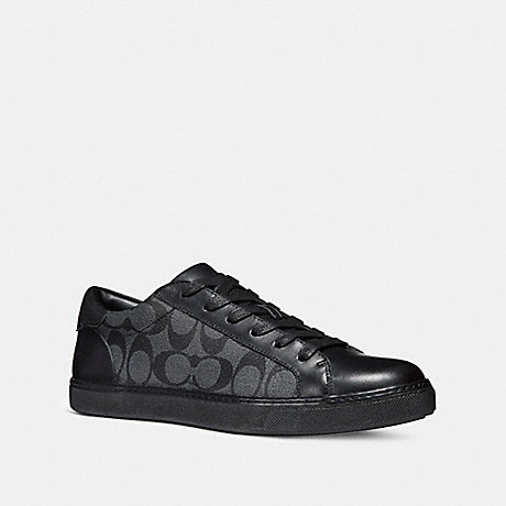 COACH C126 LOW TOP SNEAKER - BLACK/BLACK - fg1948