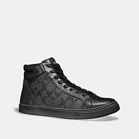 COACH C204 HIGH TOP SNEAKER - BLACK/BLACK - FG1950