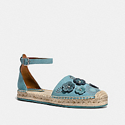 ANKLE STRAP ASTOR ESPADRILLE WITH TEA ROSE RIVETS - MARINE - COACH FG2054