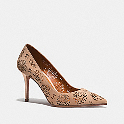 WAVERLY PUMP WITH CUT OUT TEA ROSE - BEECHWOOD - COACH FG2201