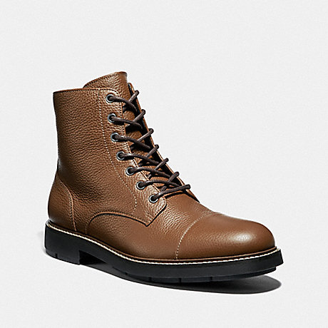 COACH CAP TOE BOOT - DARK SADDLE - FG2989