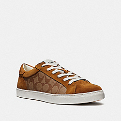 C126 LOW TOP SNEAKER - KHAKI MULTI - COACH FG3104