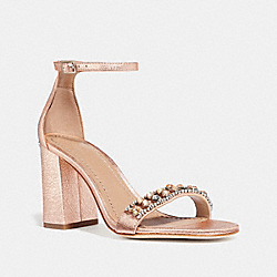 MAYA SANDAL WITH STUDS - ROSE GOLD - COACH FG3121