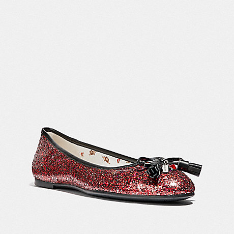COACH BENNI RUBY BALLET SLIPPER - RUBY - FG3141