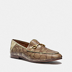 HALEY LOAFER WITH STAR PRINT - KHAKI/GOLD - COACH FG3143