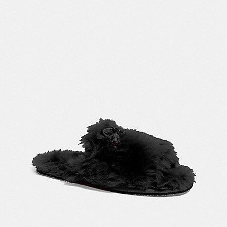 COACH ZOE SLIPPER - BLACK - FG3148