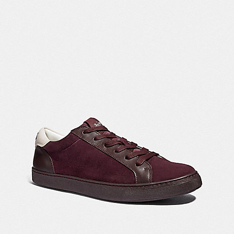 COACH C126 LOW TOP SNEAKER - OXBLOOD - FG3205