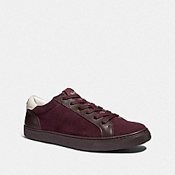 C126 LOW TOP SNEAKER - OXBLOOD - COACH FG3205