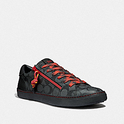 C126 LOW TOP SNEAKER - CHARCOAL/BLACK - COACH FG3206