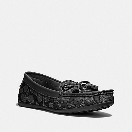 COACH GREENWICH LOAFER - BLACK SMOKE/BLACK - FG3450