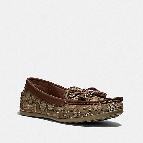 COACH GREENWICH LOAFER - KHAKI/SADDLE - FG3450