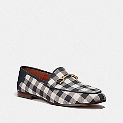HALEY LOAFER WITH GINGHAM PRINT - NAVY/CHALK - COACH FG3468