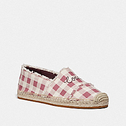 CELINA ESPADRILLE WITH GINGHAM PRINT - STRAWBERRY/CHALK - COACH FG3478