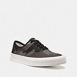 TENNIS SNEAKER WITH CAMO PRINT - GREY CAMO - COACH FG3504