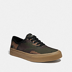 TENNIS SNEAKER WITH CAMO PRINT - GREEN CAMO - COACH FG3504