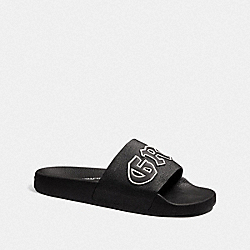 DISNEY X COACH SLIDE WITH GRUMPY - BLACK - COACH FG3843