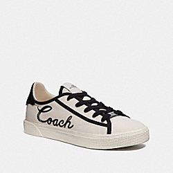 C136 LOW TOP SNEAKER - CHALK/BLACK - COACH FG3846