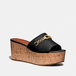 WENDIE WEDGE - BLACK - COACH FG3847