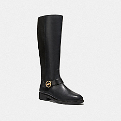RICKI RIDING BOOT - BLACK - COACH FG4191