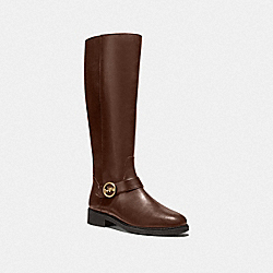RICKI RIDING BOOT - WALNUT - COACH FG4191