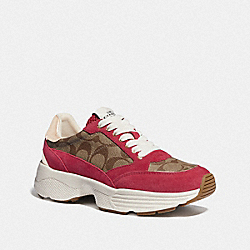 C152 TECH RUNNER - KHAKI/DARK PINK - COACH FG4265