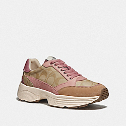 C152 TECH RUNNER - LIGHT KHAKI/PINK - COACH FG4265