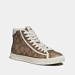 C207 HIGH TOP SNEAKER - KHAKI - COACH FG4266
