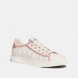 C136 LOW TOP SNEAKER - CHALK/PINK - COACH FG4291