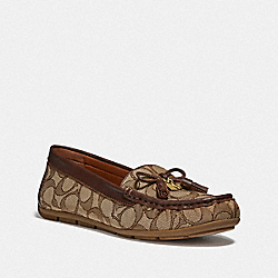 MOIRA LOAFER - KHAKI/SADDLE - COACH FG4295