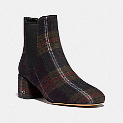 TIA BOOTIE WITH PLAID PRINT - GREEN PLAID - COACH FG4302