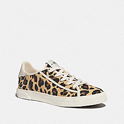 C136 LOW TOP SNEAKER WITH LEOPARD PRINT - LEOPARD - COACH FG4363