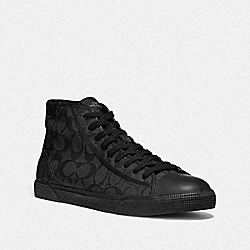 C207 HIGH TOP SNEAKER - BLACKOUT/BLACK - COACH FG4396