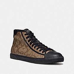 C207 HIGH TOP SNEAKER - KHAKI/BLACK - COACH FG4396