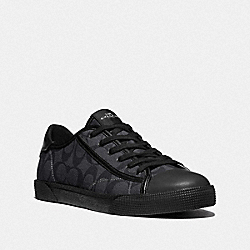 C136 LOW TOP SNEAKER - CHARCOAL BLACK - COACH FG4412