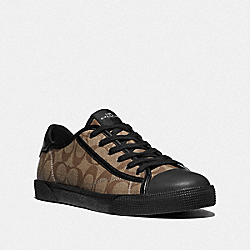 C136 LOW TOP SNEAKER - KHAKI/BLACK - COACH FG4412