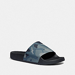 COACH SLIDE WITH CAMO PRINT - BLUE MULTI CAMO - COACH FG4424