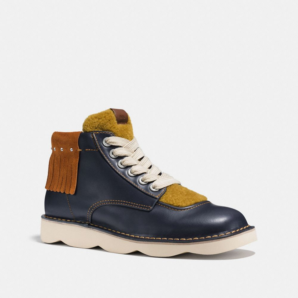 Coach High Top Trooper With Shearling