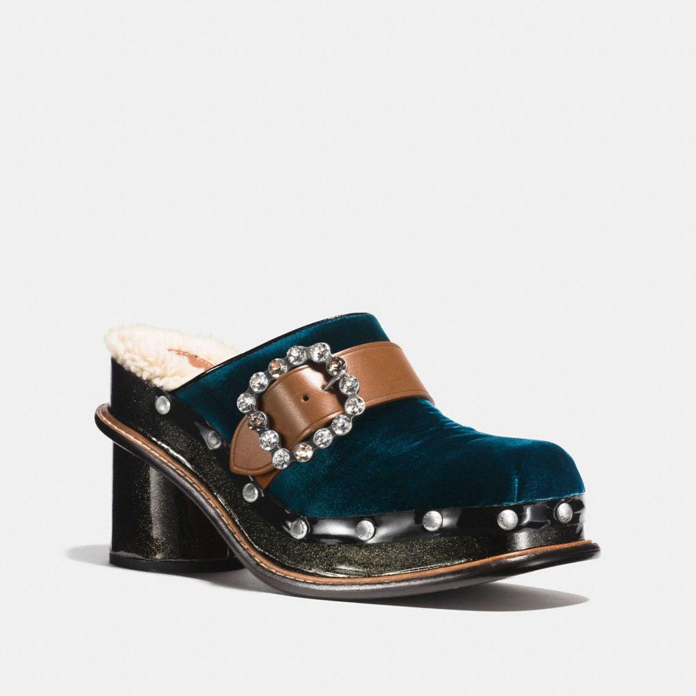 Coach Clog Slide With Glitter Heel