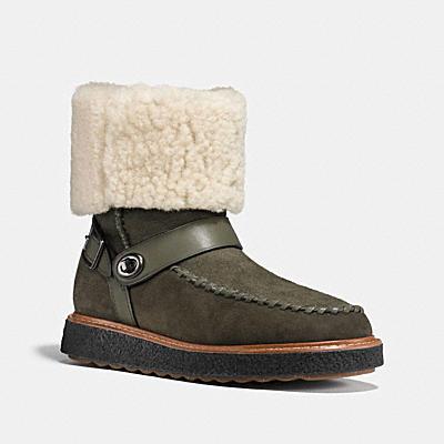 翻皮羊毛機車騎士靴
