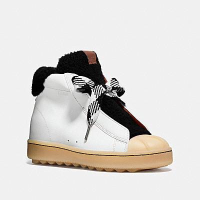 高筒翻皮羊毛休閒鞋