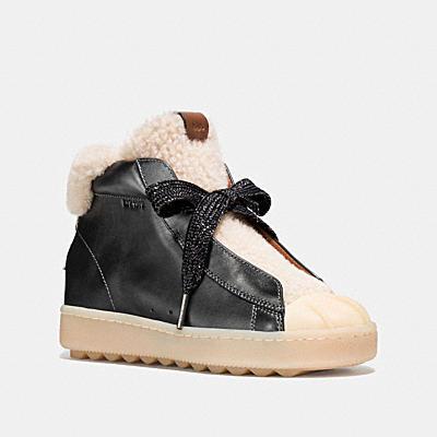 高筒金屬風休閒鞋