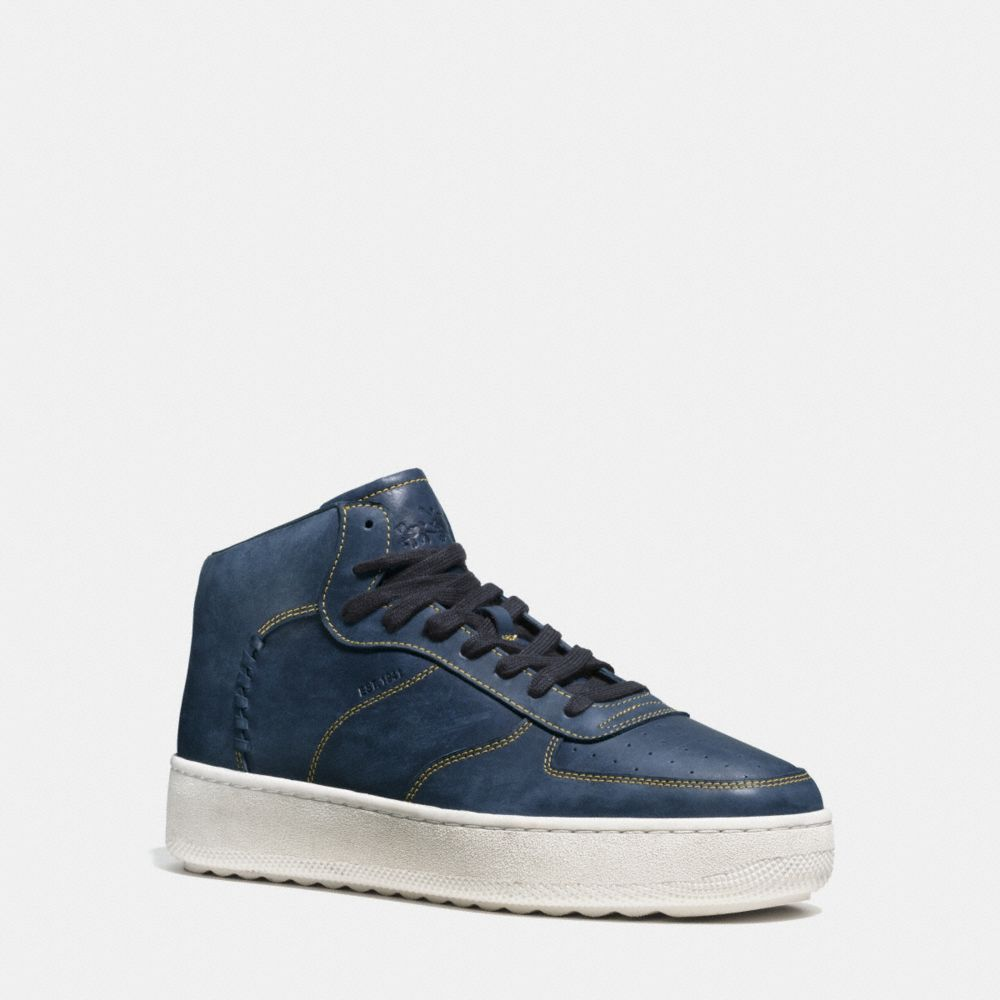 Coach Contrast Stitch C210 High Top Sneaker