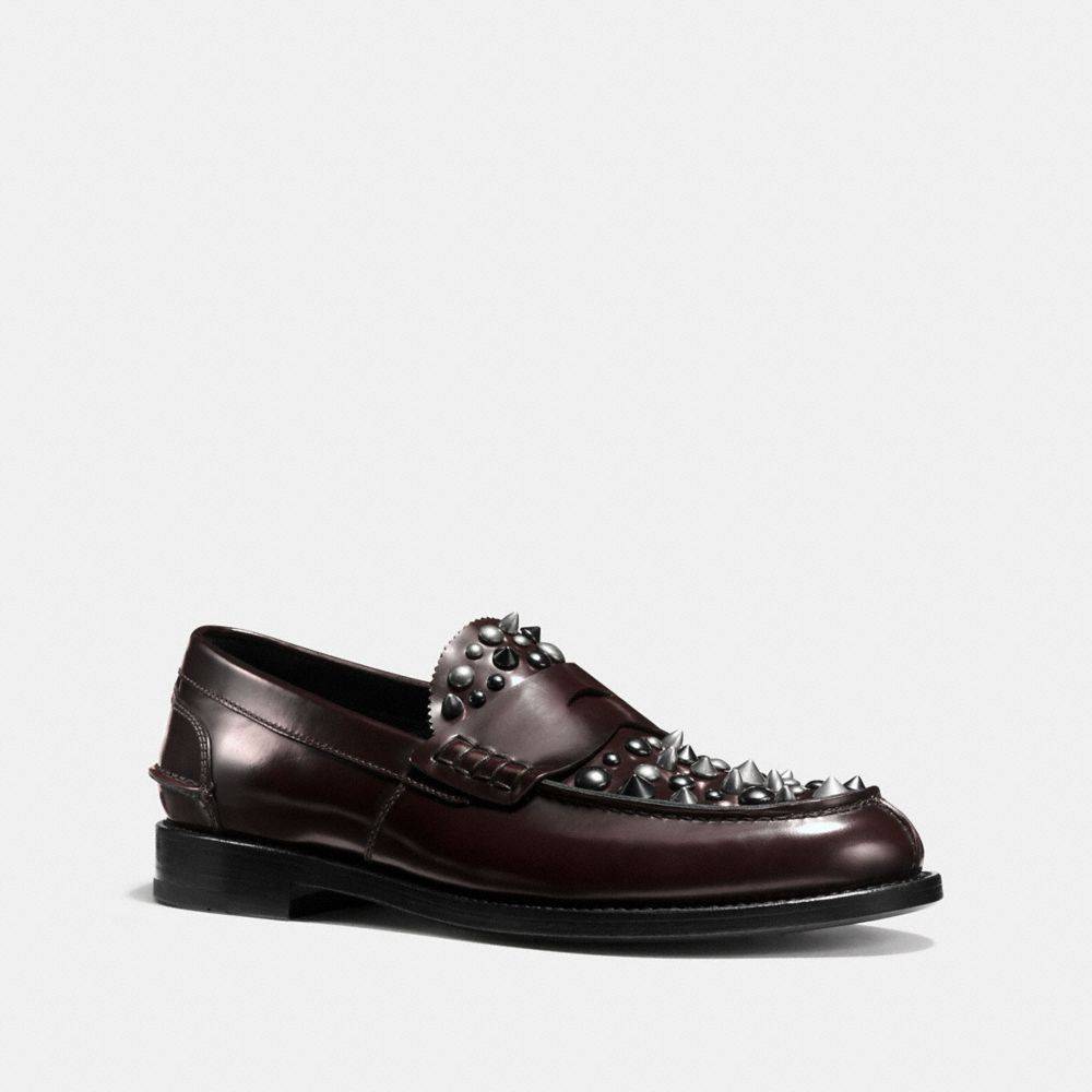 PLUG LOAFER WITH RIVETS