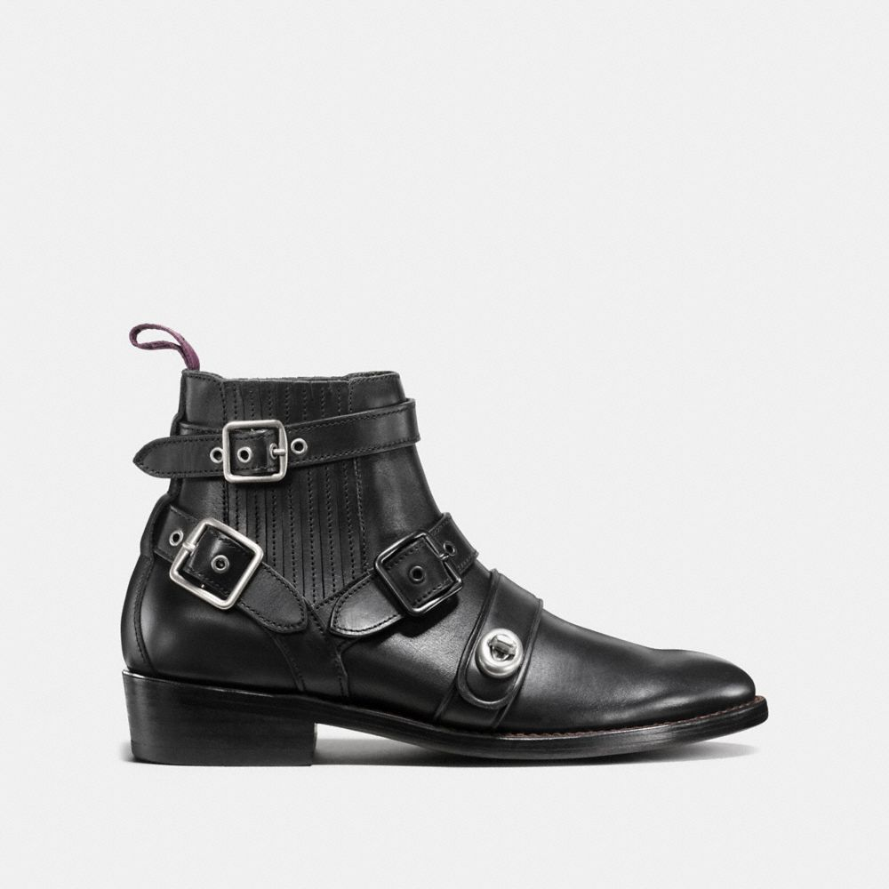 Strapped Chelsea Biker Boot - Alternate View A1