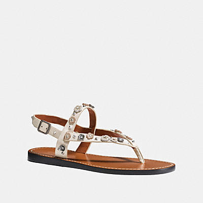 HUDSON SANDAL WITH TEA ROSE